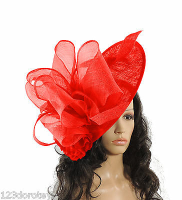 Weddings Large White Fascinator for Ascot Derby,Mother of the Bride P4