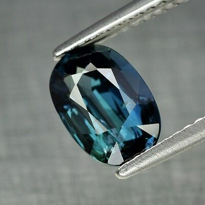 Certified 2.27ct 9x6mm Oval Natural Standard Heated Blue & Green Sapphire