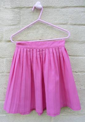 Childrens vintage hot pink skirt pleated 1950's 60's age 5-6 rockabilly lindyhop