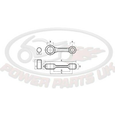 CON ROD Connecting rod KIT PROX For Kawasaki KFX 400 A KSF