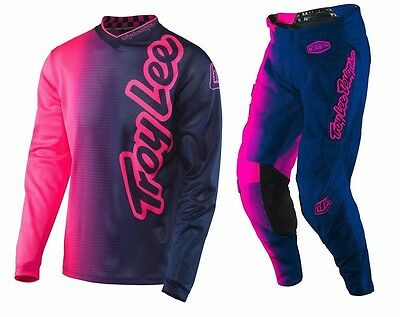 New 2017 Troy Lee Designs Gp Air 50/50 Mx Moto Gear Combo Pink/ Navy All Sizes