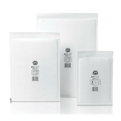 Genuine Jiffy Airkraft Bubble Lined Peel & Seal White Packing Envelopes All Size