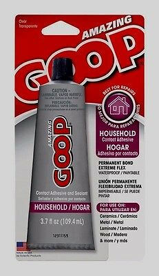 AMAZING HOUSEHOLD GOOP Glue Clear Contact Adhesive Sealant Flexible 3.7oz 130011
