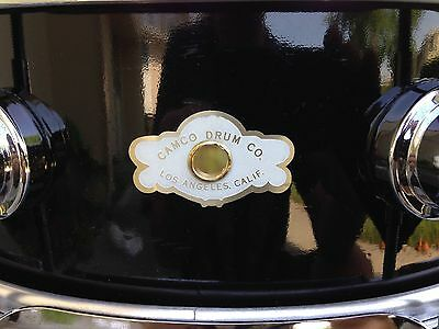 Camco Los Angeles Black Lacquer 5X14 Aristocrat Snare Drum,   Nice !