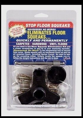 SQUEEEEEK NO MORE Screw Kit 3233 Stops Repairs & Eliminates Floor Squeaks Squeek