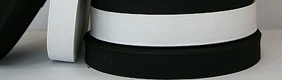 """5 yards Knitted Elastic from 3/4"""" to 3"""" inch Black or White  Brand New in a Bag"""
