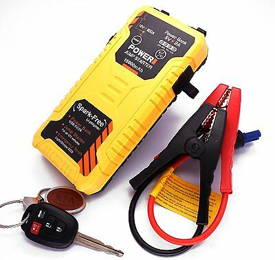 Car Jump Starter Power Bank 15000mAh Multi-Functional External Battery Charger