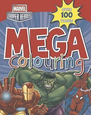 Marvel Super Heroes Mega Colouring, Marvel Book The Cheap Fast Free Post