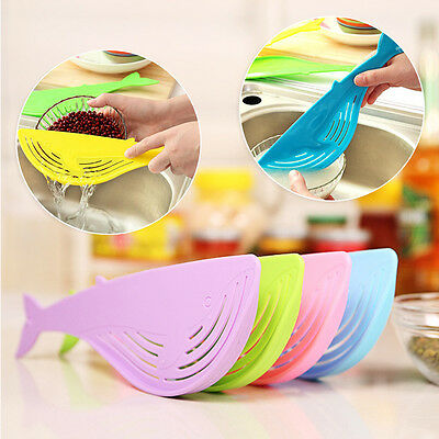 Kitchen Tool Cleaning Rice Washing Filter Whale Shaped Drainer Device Strainer