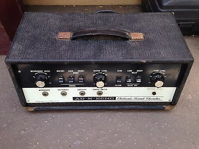 Rare Ad N Echo Oil Filled Sound Chamber Echo Box Guitar Effect, Adineko, Tel Ray