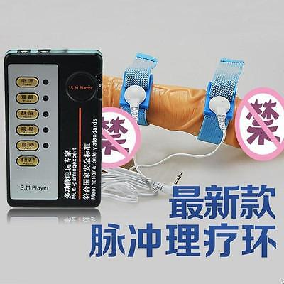 Electric Shock Enlarge Penis Rings Pulse Physical Therapy Sex Kits For Male HQ