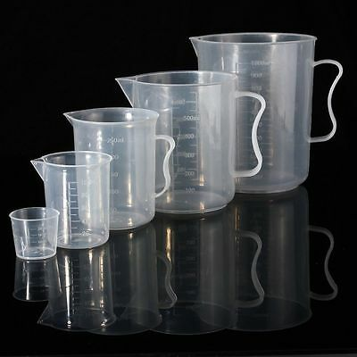 HOT 20/100/250/500ML Plastic Measuring Cup Jug Pour Spout Surface Cook Kitchen