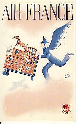 Carte Postale / Postcard / Aviation / Illustrateur Herve Baille / Air France