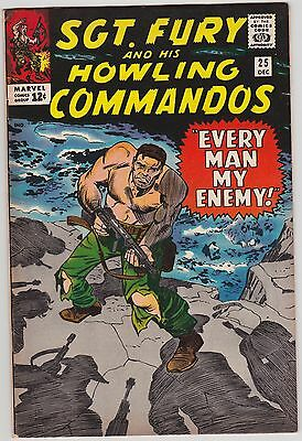 """Sgt Fury And His Howling Commandos #25 Marvel 1965 Jack """"king"""" Kirby Red Skull"""