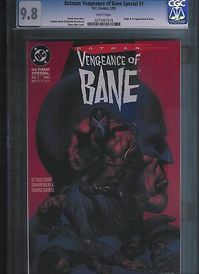 Batman: Vengeance of Bane Special # 1 CGC 9.8  White Pages. UnRestored.
