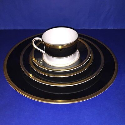 5 Piece Coalport England Athlone Pattern Bone China Brown Gold Place Setting