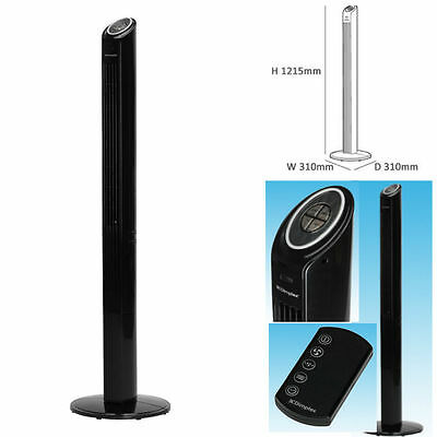 Tower Fan Cooling Dimplex Air Oscillating Standing Electric Home Office Cooler
