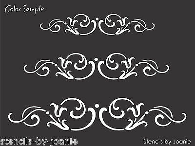 STENCIL French Swirl Scroll Tulip Border Design Country Cottage Chic Art Signs