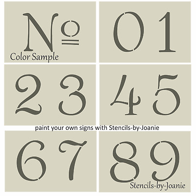 """French Old Vintage Style Number STENCIL 4"""" Paris Chic Cottage Address Home Decor"""