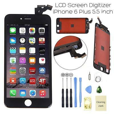"""For IPhone 6 Plus 5.5"""" Black LCD Digitizer Screen Assembly Replacement Frame USA"""