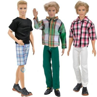 3 Sets Fashion Doll Clothes Casual Wear Jackets Pants Outfit For Girl&Boy Doll K