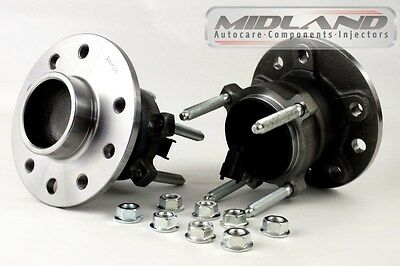 2 X Vauxhall Vectra C All Models Rear Wheel Bearing Hub Assembly+Abs Sensor*new*