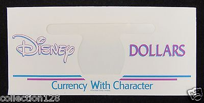 Disney Dollar Currency With Character Envelopes Only