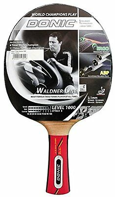 Donic Schildkröt Table Tennis Bats Waldner 1000 Incl . Learning Dvd Black / Red