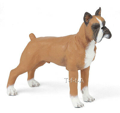 FREE SHIPPING | Papo 54019 Boxer Dog Toy Canine Animal Figurine - New in Package
