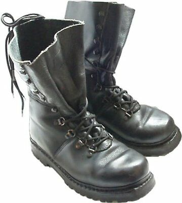 Austrian army Edelweiss Mountain boots Black leather para shoes combat assault