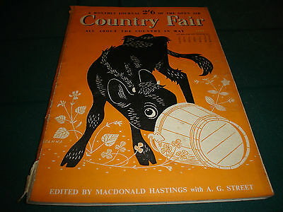Country Fair Magazine May 1953 A Monthly Journal Of The Open Air John Hanna