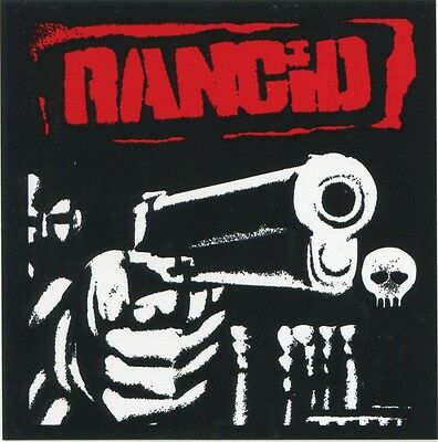 RANCID gun logo STICKER **FREE SHIPPING** -and out come the wolves let's go