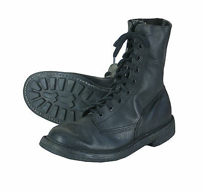 Vintage 1990s Belgian army combat para boots Black leather shoes military assaul