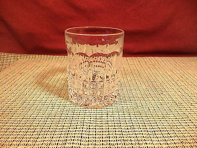 """Gorham Crystal Fairfax Pattern Double Old Fashioned Glass 4"""" T x 3"""" W"""