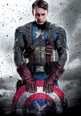 Captain America Poster Marvel Avengers Large Quality, FREE P+P, CHOOSE YOUR SIZE