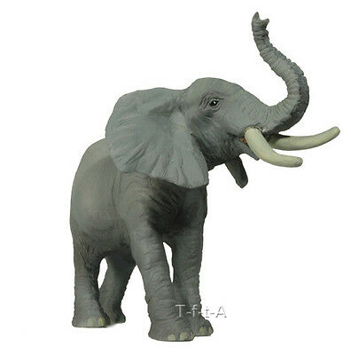 FREE SHIPPING | Papo 50041 Trumpeting Elephant Model Animal Toy - New in Package