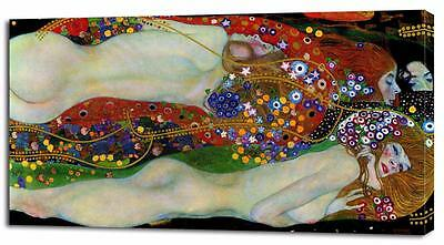 Gustav Klimt WATER SERPENTS CANVAS PRINT Home Wall Decor Art On Giclee Painting