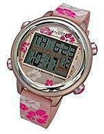 VibraLITE 12 - Pink Floral Silicon Band - Vibrating Watch - TTW-VL12-SPF