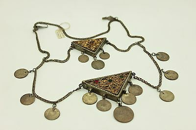 Antique Original Perfect Silver Ottoman Amazing Islamic Necklase