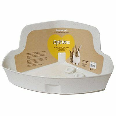 Rosewood Corner Rabbit Litter Tray Large Pet Supplies Space Saving Corner Fitti