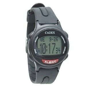 12 Alarm e-pill® CADEX® watch BLACK Medication Reminder and ALERT Watch