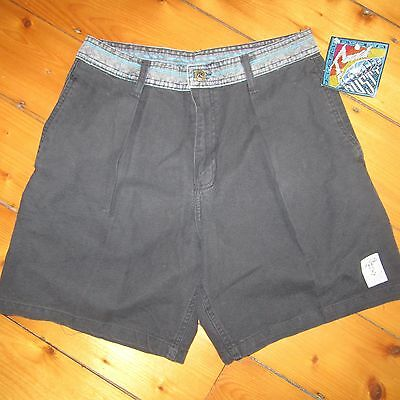 vintage NOS 1980-90s RUSTY pleated Unlined surfer BOARDSHORTS swimsuit NWT rad