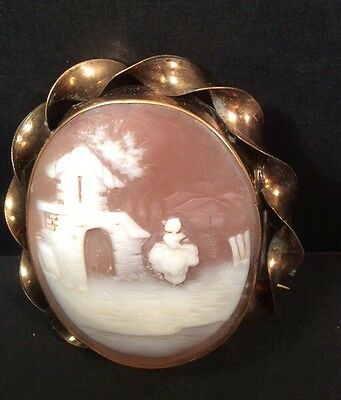 Victorian shell cameo.