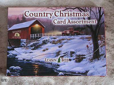 LEANIN TREE Country Christmas Cards 2 each of 10 designs w/ stylish envelopes