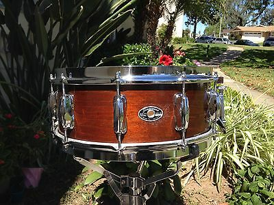 1977 Slingerland Buddy Rich Tdr Natural Mahogany 5.5 X14 Snare Drum, A Beauty !