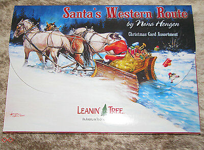 LEANIN TREE Santa's Western Route Christmas Cards 2 each of 10 designs