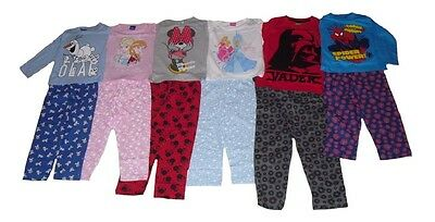 Boys/Girls Pyjamas Mixed Characters Disney Spiderman Star Wars