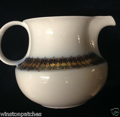 Heritage Bavaria Germany Arabesque Creamer 12 Oz Gold & Cobalt Band