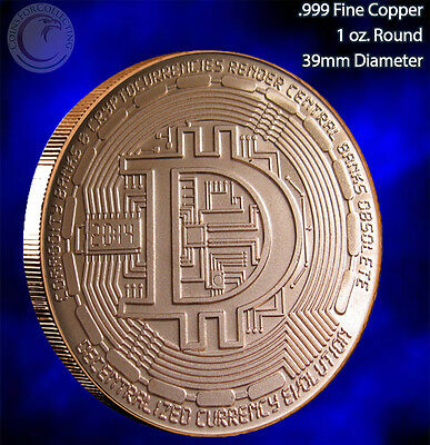 2014 Decentralized Copper Round 1 oz .999 Very Limited and Rare