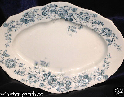 "F Winkle & Co Colonial Pottery Stoke England Grace 13 3/4"" Oval Serving Platter"